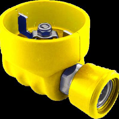 """Valvula bola 1/2"""" SS vulcanizado amarillo AV-300Y"""
